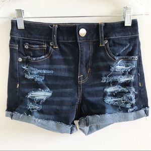 American Eagle Super Stretch Denim Jean Shorts 0
